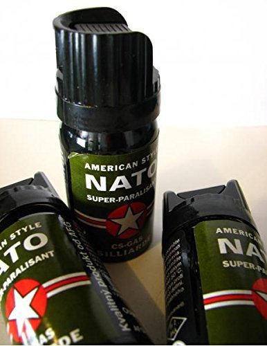 CS GAS NATO Tränengas 40ml Abwehrspray CS-GAS