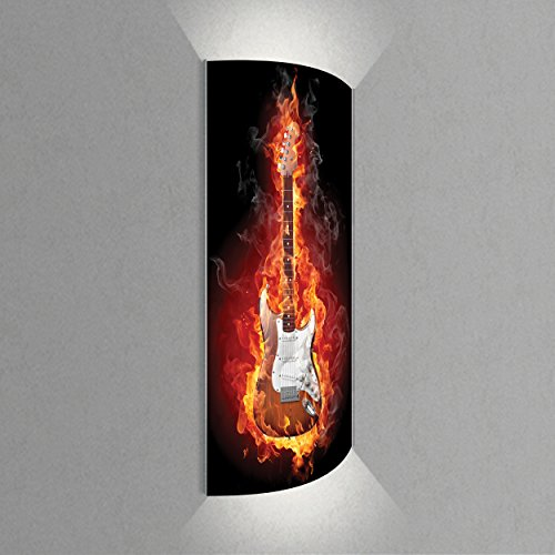 Luminoase-Leuchten-Leuchte-E-Gitarre-Nachleuchtende-hochwertige-LED-Acrylglas-Wandbildlampe-Motiv-Musik