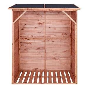 Kaminholzregal mit Rückwand IMPRÄGNIERT Brennholzregal Holzunterstand für 1,15 m³ Brennholz  BaumarktKundenbewertung: