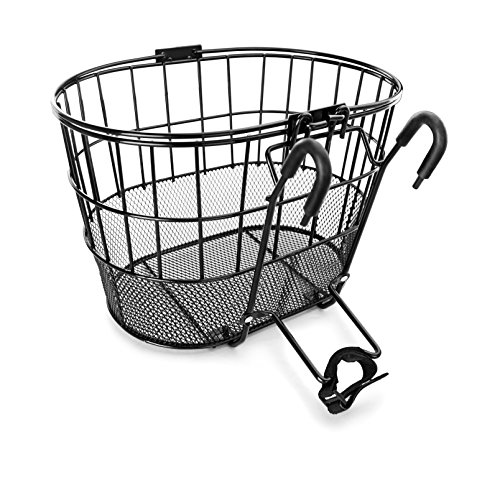 Great Features Of Colorbasket Mesh Bottom Lift-Off Bike Basket, Black