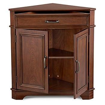 Deluxe Corner Cabinet (Walnut)