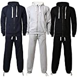 Mens Full Tracksuit Hooded Top Bottoms Pants Cotton Blend Football Training