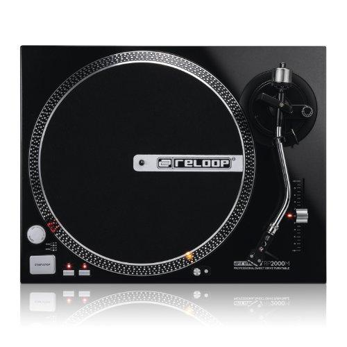 Best Deals! Reloop RP-2000-M DJ Turntable with Quartz Driven Direct Drive, Metallic Black