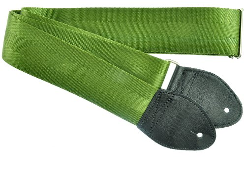 Souldier Custom Gs0000Od04Bk Recycled Seatbelt Electric Guitar Strap, Olive Drab Army Green