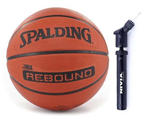 Spalding Basketball Rebound 7 Combo ( Spalding Nba Rebound Brick, Size 7 + Niva Ball Air Pump)  available at amazon for Rs.920