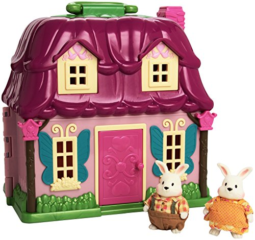 Li'l Woodzeez 6103M Countryside Cottage with Amelia & Elliot Hoppingood and Storybook (Lil Woodzeez Treehouse compare prices)