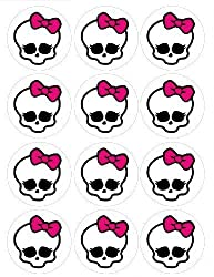 Single Source Party Supplies - 2.5 Monster High Cupcake Edible Icing Toppers #1 - Qty 12 by Single Source Party Supplies