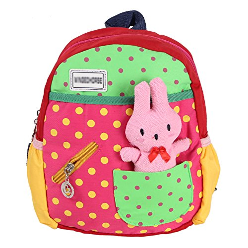 Your Gallery Baby'S Cute Kawaii Rabbit Polka Dots Small Backpack For Toddlers, Rose front-1046333