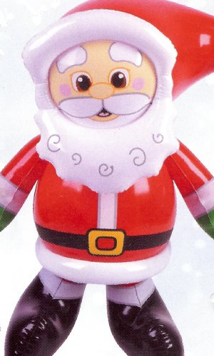 "24"" TALL CHRISTMAS SANTA INFLATABLE ~ INDOOR OR OUTDOOR DECOR"