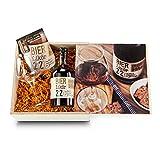 Das Geschenkset Bierlikör & Bierglas in der Holzkiste