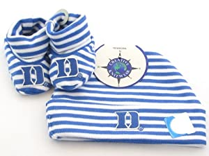 Buy Duke Blue Devils Blue White Striped Infant Newborn Hat Booties Baby Gift Set DU by Sports Accessory Store