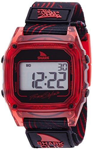 Freestyle Women's 10020214 Shark Clip Digital Display Japanese Quartz Red Watch (Womens Shark Clip Watch compare prices)