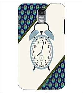 PrintDhaba Alarm Watch D-4268 Back Case Cover for SAMSUNG GALAXY S5 (Multi-Coloured)