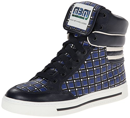 Marc by Marc Jacobs Women's Cute Kicks Fashion Sneaker, Blue/Multi, 39 EU/9 M US
