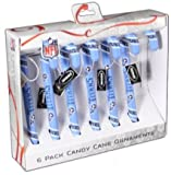 Tennessee Titans 2010 Set of 6 Candy Cane Ornaments Amazon.com