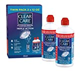 Clear Care Cleaning & Disinfecting Solution with Lens Case, Twin Pack, 12-Ounces Each