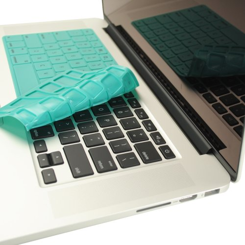 $$  TopCase SOLID HOT BLUE Keyboard Silicone Cover Skin for New Macbook Pro 13