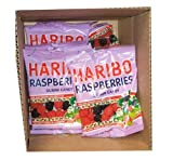 Haribo Gummi Candy, Raspberries, 5-ounce Bags (Pack of 24)