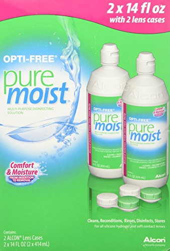 Opti-free Pure Moist Disinfecting Contact Lens Cleaning Solution, 2×14 Oz