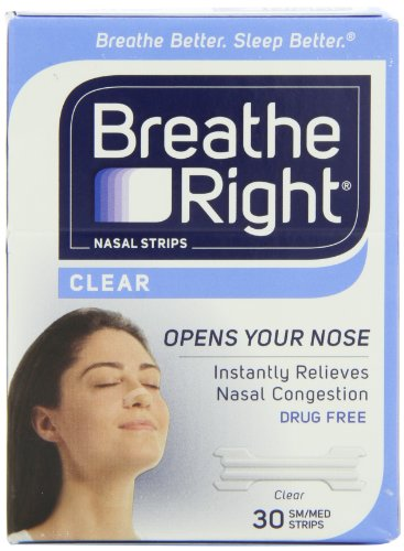 Breathe Right Nasal Strips, Small/Medium, Clear,