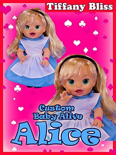 Alice in Wonderland Custom Baby Alive Doll Eats Play-Doh Poops Surprises