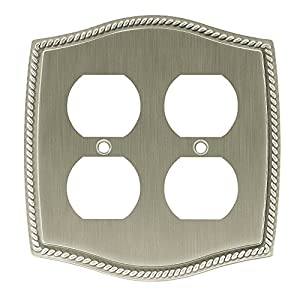 Liberty W096ZMC-BSN-C Colonial Rope Double Duplex Wall Plate / Switch Plate / Cover
