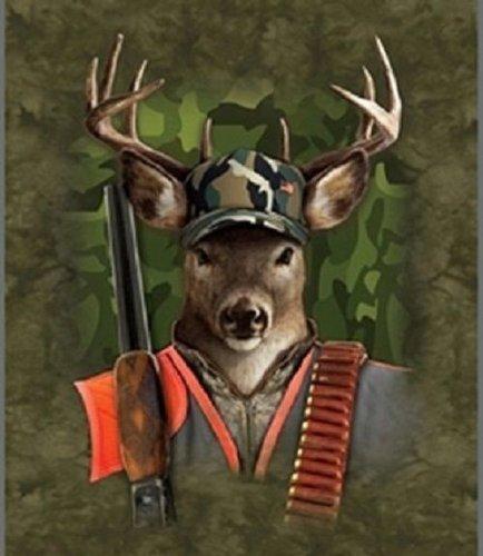 Hunting Buck Super Soft Fleece Throw Blanket Wildlife Gift Idea 50X60 front-754780