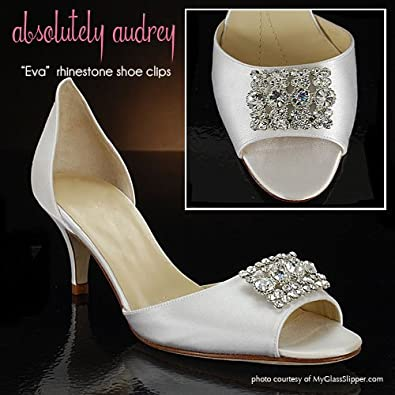 Absolutely Audrey Eva Crystal Shoe Clips