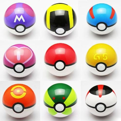 [9PCS Pop-up Master Great Ultra GS poke BALL Toy] (Bouncy Ball Costume)