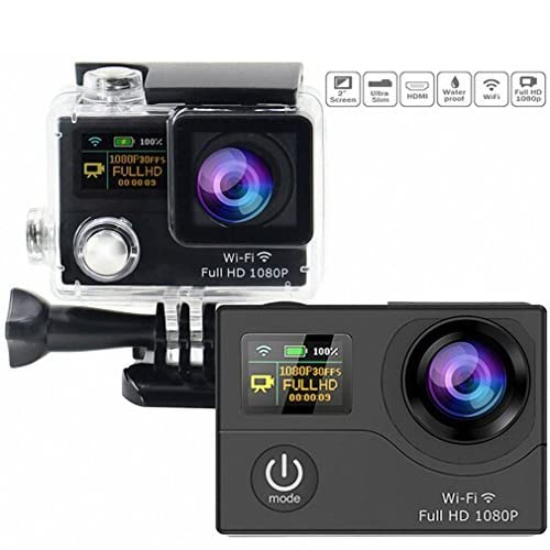 Action Camera,Sogo? 2.0 Plus Dual LCD Screen WIFI Sport Action Video Camera Waterproof DVR add Bag and Accessories (16 Items) [並行輸入品]