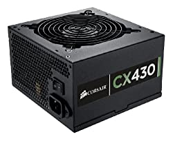 Corsair Builder Series CX V2 430-Watt 80 Plus Certified Power Supply Compatible with   and   Platforms - CMPSU-430CXV2