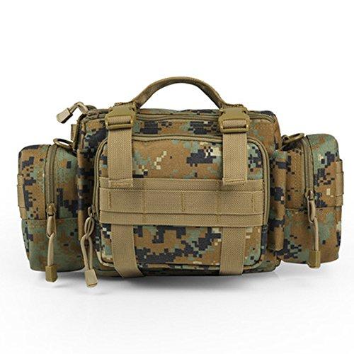 YAAGLE Outdoor Hüfttasche 3P Nylon Schultertasche Kuriertasche Umhängetasche Freizeit Reisetasche Sporttasche-Tarnung 2