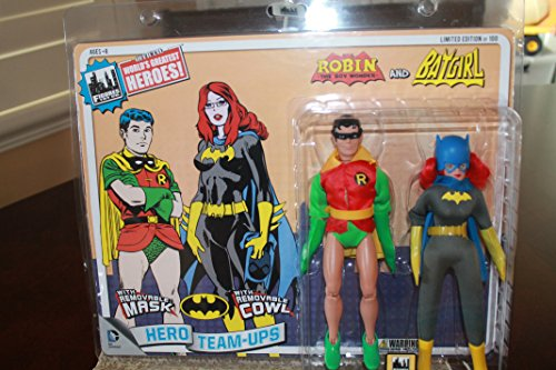 Worlds Greatest Heroes Series 2 Robin and Batgirl 2pk Limited to 100pc (Batgirl Cowl Mask compare prices)