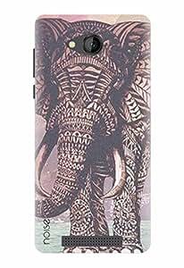 Noise Designer Printed Case / Cover for Lava A67 / Patterns & Ethnic / Elephant Design