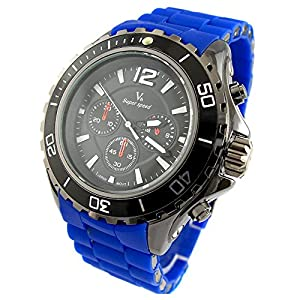 YouYouPifa Sport Style Quartz Men's Wrist Watch (Navy Blue)