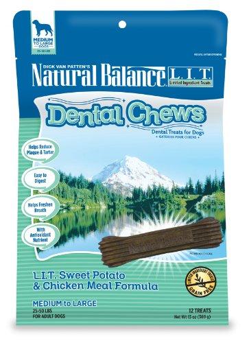 Dick Van Patten'S Natural Balance L.I.T Sweet Potato And Chicken Meal Dental Chew For Regular Breeds