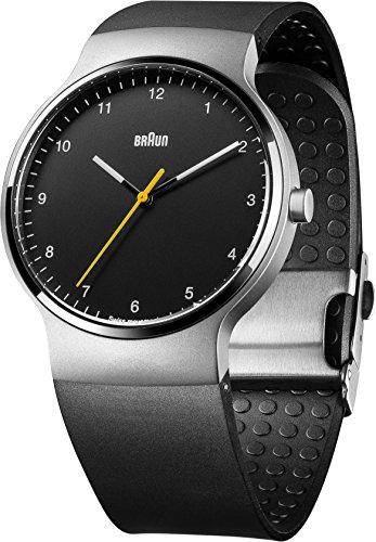 Braun - BN0221BKSLBKG - Montre Mixte - Quartz - Analogique - Bracelet Caoutchouc noir