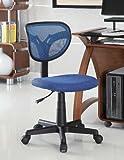 Coaster 800055B Mesh Fabric Adjustable Height Task Chair, Blue