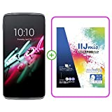 alcatel IDOL 3(5.5) smartphone in Dark Gray SIMフリー スマートフォン ( IIJmio SIM 音声通話パック IM-B043 バンドル版 ) 6045F-2AALJP7+IM-B043