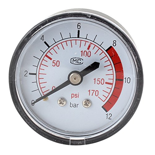 "1/8"" Pt Male Thread Diameter Air Compressor Barometer 0-170 Psi front-1032436"