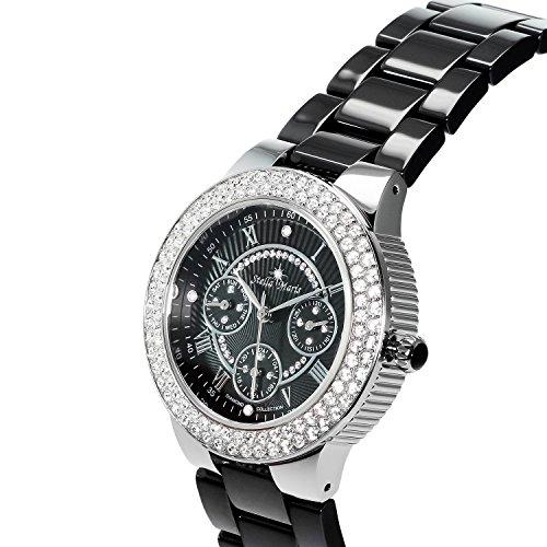 stella maris damen armbanduhr analog quarz premium keramik diamanten stm15s4 uhren. Black Bedroom Furniture Sets. Home Design Ideas