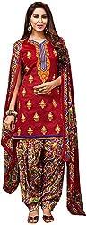 Begum Riwaaz Women's Georgette Unstitched Dress Material (18004B, Red)