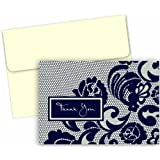 Hortense B. Hewitt 50 Count Lovely Lace Thank You Note Cards