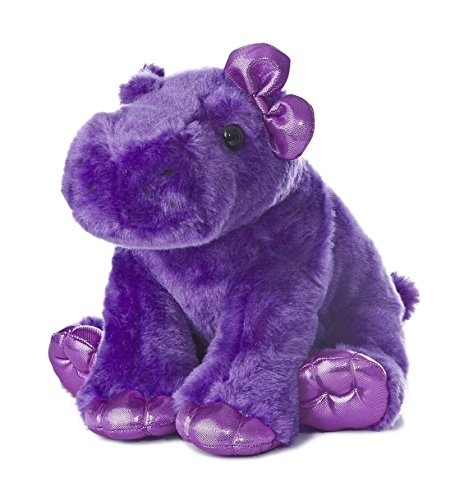 "Aurora World Girlz Nation Purple Hippo Plush, 10"" - 1"