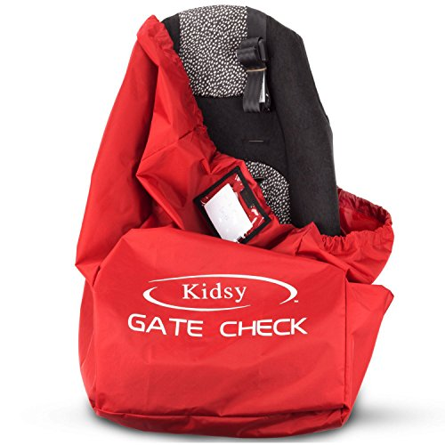 car seat travel bag heavy duty gate check bag for air travel carry your child 39 s car seat. Black Bedroom Furniture Sets. Home Design Ideas
