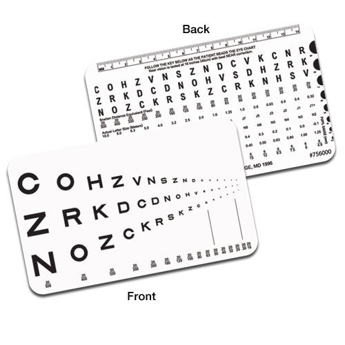 Runge Sloan Letter Pocket Near Vision Card (Near Eye Chart compare prices)