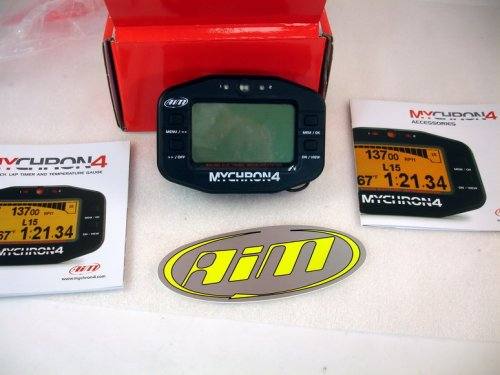 AIM MYCHRON 4 - DATA ACQUISITION GAUGE - KART TAG KT100