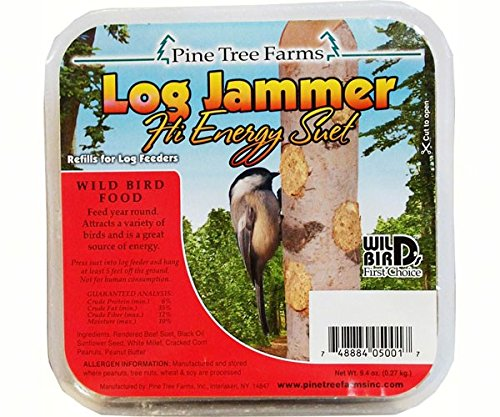 12 Pack of Log Jammers Hi Energy Suet 4 Refills (48 Plugs Total)