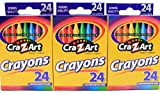 24 Count Cra-Z-Art Crayons Non-Toxic (Pack of 3)