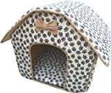Cat / Dog Collapsible Pet Paw Prints House-Medium